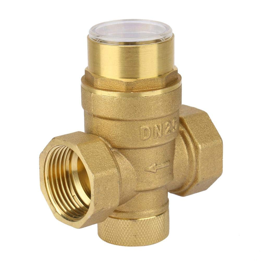 Pressure Reducing Valve, Water Control 1 inch Pressure Reducing Valve Brass Water Pressure Regulator with Gauge Meter by Keenso (Image #4)