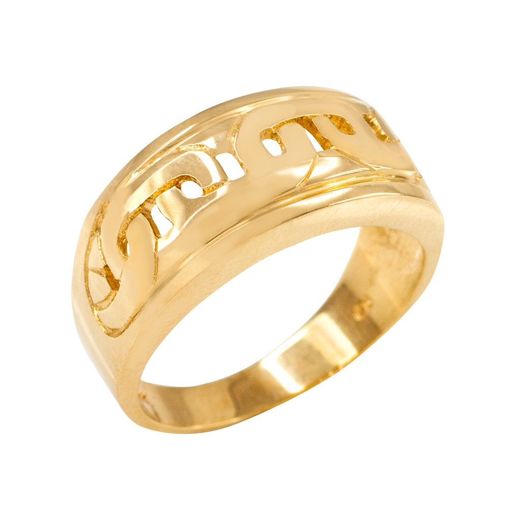 Mariner Link Pattern Ring in Polished 10k Yellow Gold