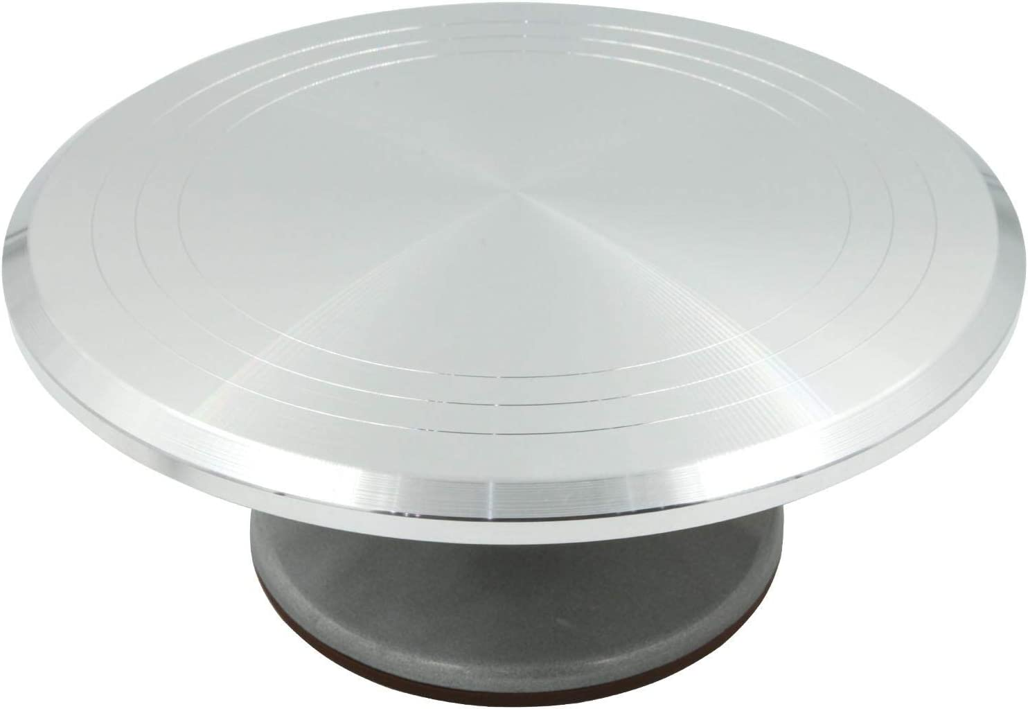 """Revolving Cake Turn Table Rotating Decorating Platform Stand Stainless Steel 13/"""""""