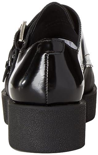 Jeffrey Campbell Victor Satin Lea, Chaussures en boucle pour