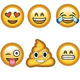 KIMILAR 6 Pack Emoji partie masques drôles Photo Booth accessoires pour Photo anniversaires de mariage Party retrouvailles stand Déguisements accessoires