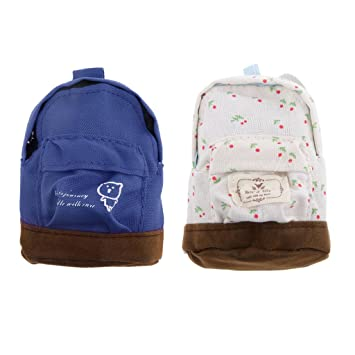 a271c85a7dd6 B Baosity 2Pcs 1 6 Scale Dolls House Miniatures Accessory Backpack Big Bags  Shoulder Bag  Amazon.co.uk  Toys   Games