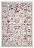 Safavieh Windsor Collection WDS309D Ivory and Fuchsia Vintage Distressed Bohemian Area Rug (8′ x 10′) Review