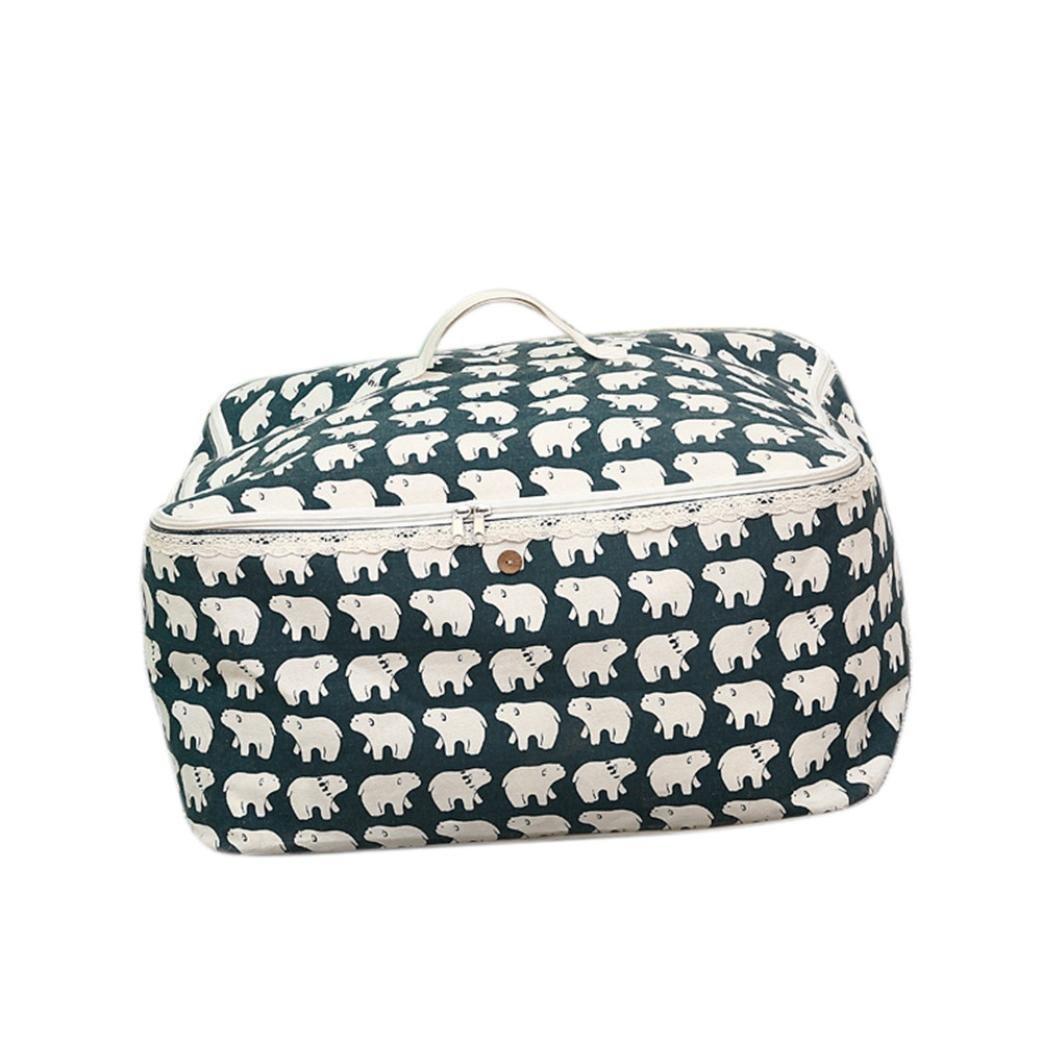 Transer Foldable Storage Bag Clothes Blanket Quilt Closet Sweater Organizer Box Pouches (B)