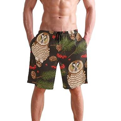 DEYYA Blue Bird Summer Beach Shorts Pants Mens Swim Trunks Board Short for Men
