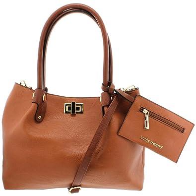 e732caf6fc81 Kathy Ireland Womens Faux Leather Embellished Satchel Handbag  Amazon.in   Shoes   Handbags