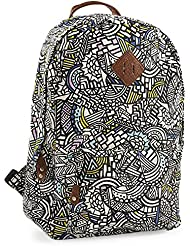 Aeropostale Womens Geometric Doodles Backpack Black