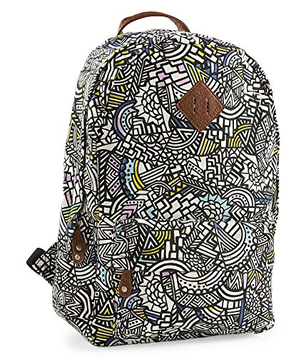 Aeropostale Womens Geometric Doodles Backpack
