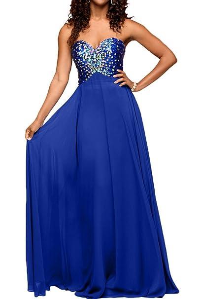 Charm novia Royal azul piedras bola vestido vestido de fiesta vestido de noche de corazones