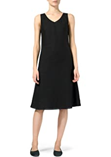 fac0b4fd49 Vivid Linen Sleeveless Bias Cut Dress at Amazon Women s Clothing store