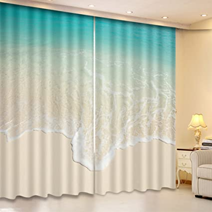 simple window treatments elegant lb ocean theme window curtains by blackout for bedroom and living room image amazoncom