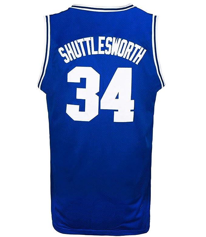 JOLISPORT Jesus Shuttlesworth #34 Lincoln Big State High School Men's Basketball Jersey Stitched