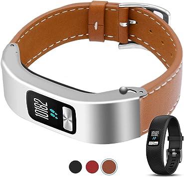 For Garmin Vivofit Bands Classy Genuine Leather Strap //Vivofit 2 ONLY