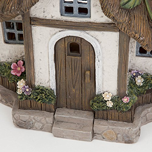 Bits and Pieces - Solar Fairy Cottage - Unique Outdoor Lawn and Garden  Décor - Make Your Magical Fairy Garden House Come to Life in Your Garden