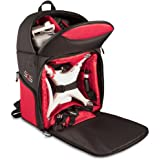 Drone Quadcopter Backpack Carrying Case For DJI P4 P3A P3P DJI Phantom 4 Phantom 1, 2, 3 Advanced Professional Quadcopter 4K UHD Video Camera and Similar Models (Black/Red)