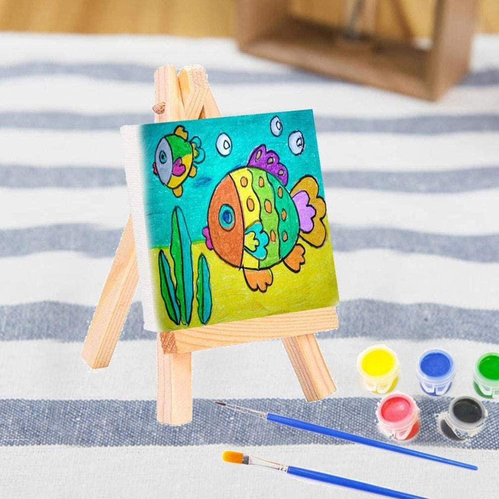 BESLIME Mini Chevalet Tr/épied en Bois Chevalet Portable en Bois pour Peinture,Chevalet Triangle,pour d/écoration de f/ête,Affichage de Photos,10 pcs