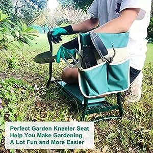 Amazon.com: Besthls - Banco plegable para jardín con gran ...