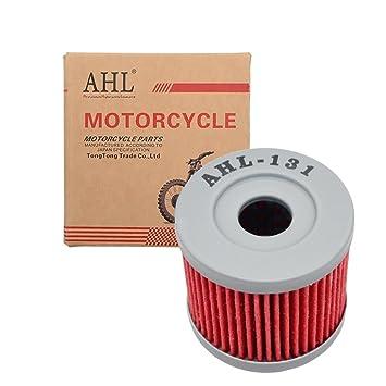 AHL- Motocicleta Filtro de Aceite Oil Filter para AN400 Burgman 400 2007-2013: Amazon.es: Coche y moto