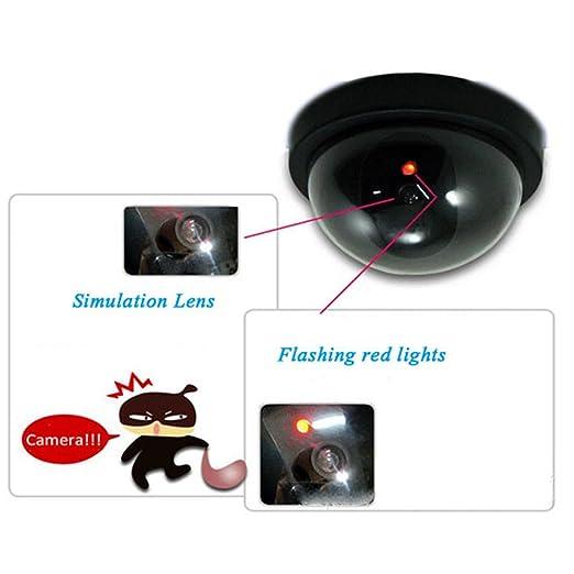 Kakiyi Cámara simulada de la bóveda de la CCTV de la seguridad Modelo interior de la cámara de vigilancia falsa de la bóveda con el LED que destella ...