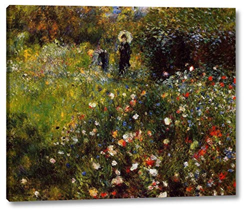 Summer Landscape Also Known as Woman with a Parasol in a Garden by Pierre Auguste Renoir - 8