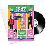 Anniversario o Compleanno Regali; Libretto dell' anno, Musica e biglietto di auguri in uno; La storia della tua Anno -1967