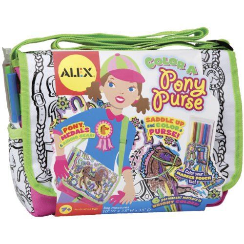 ALEX Toys Craft Color a Bag & Accessories Color A Pony -