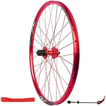 ZNND Bicicleta Rueda Trasera 26 Pulgadas Montaña Pared Doble Liberación Rápida Freno De Disco Bicicleta MTB 7 8 9 10 Velocidad Ruedas (Color : Red): Amazon.es: Deportes y aire libre