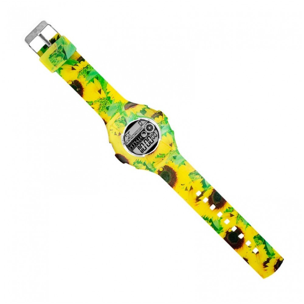 JoyJoy! Sunflowers Interchangeable Silicone Watch JJ-4085W - Cutest gift for a loved one!