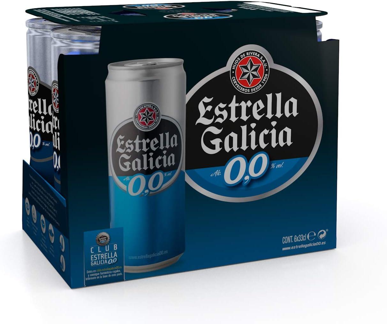 Estrella Galicia Cerveza sin Alcohol - Paquete de 6 x 330 ml - Total: 1980 ml: Amazon.es: Alimentación y bebidas