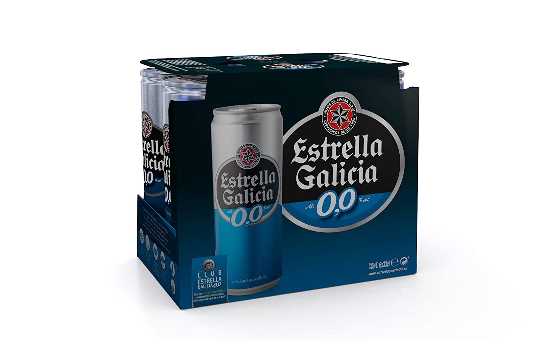 Estrella Galicia Cerveza sin Alcohol - Paquete de 6 x 330 ml ...