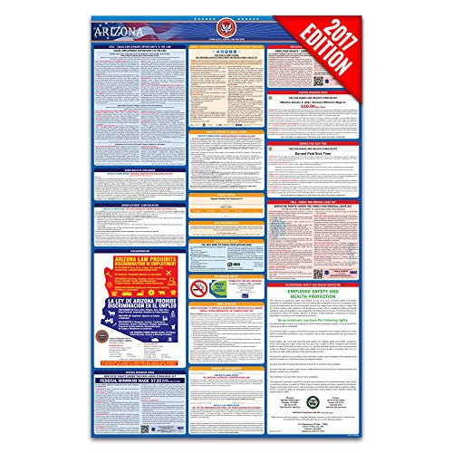 2017 Arizona Labor Law Poster – State & Federal Compliant – Laminated