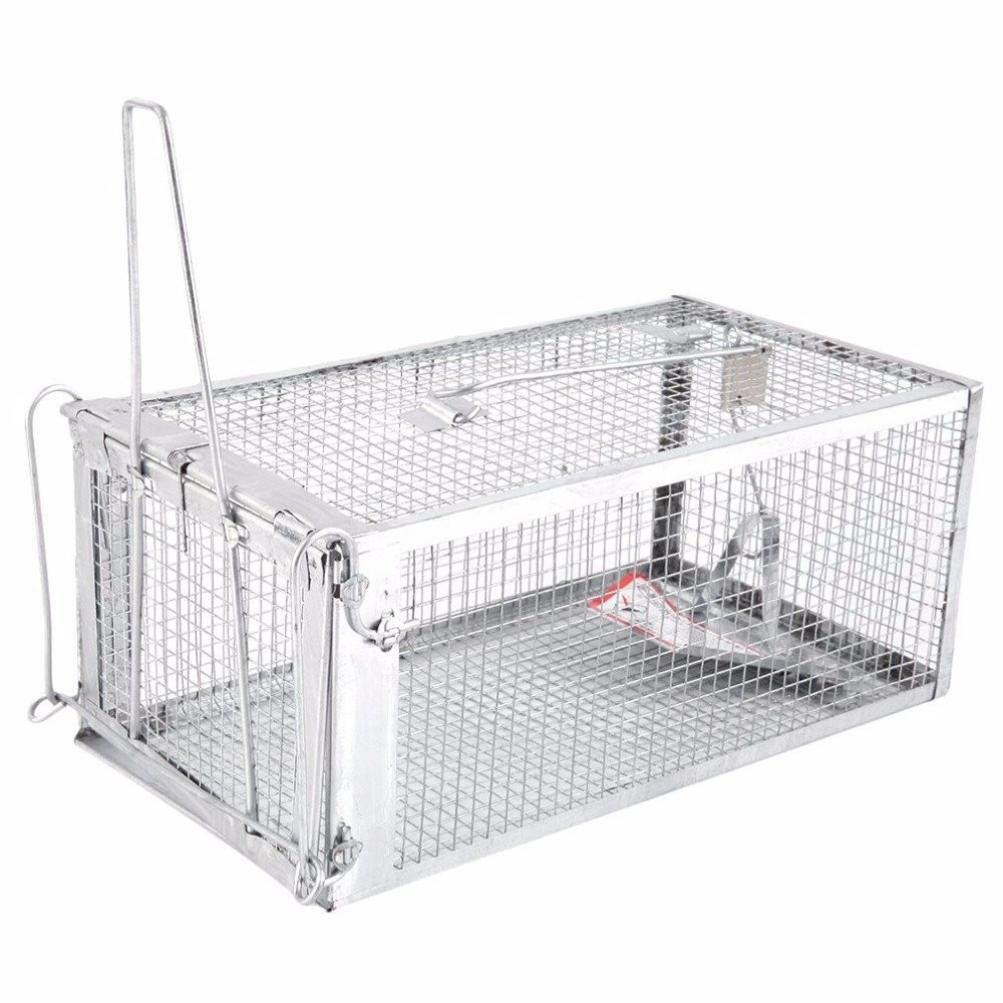 Animal Trap Cage,AutumnFall Clearance!!❤️❤️1PC Stainless Steel Rodent Animal Mouse Humane Live Trap Hamster Cage Mice Rat Control Catch Bait Durable 2018 Hot Sale (Silver) by AutumnFall_ Trap Cage (Image #2)