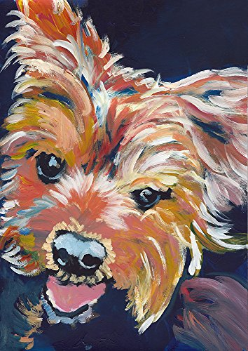 Yorkshire Terrier Painting, Colorful Yorkshire Terrier Wall Art Print, Yorkie Owner Gift, English Yorkshire Terrier Art Print, Colorful Dog Painting Decor ()