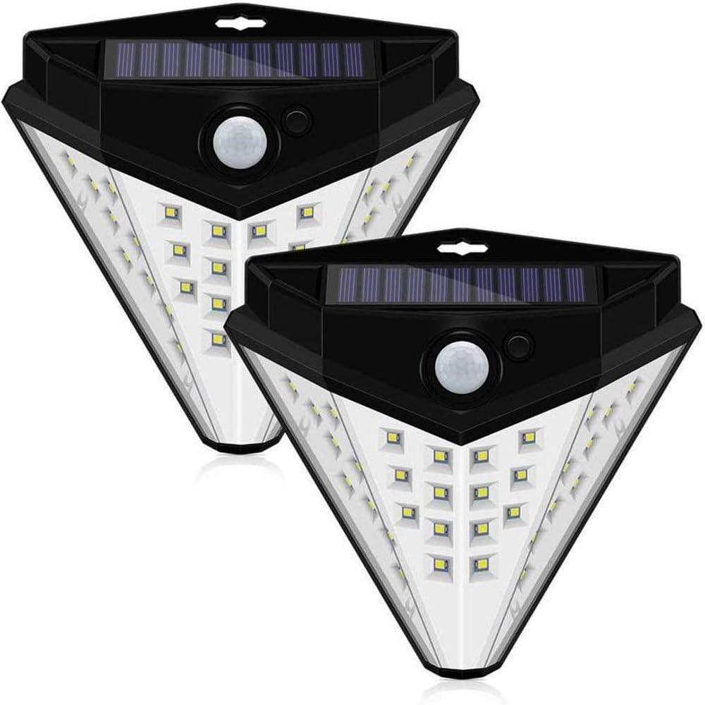 Hnagrdmmp Solar Lights Outdoor,Triangle 32geführt Solar Körper Intelligent Induction Wand Lamp,für Lawn Porch Driveway Pathway Garage Patio,2 Pack