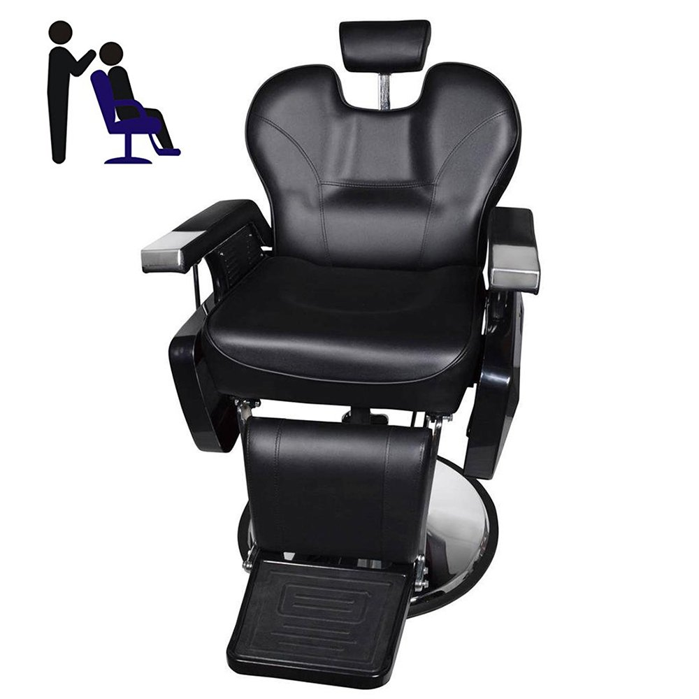WarmieHomy Adjustable Barber Chair Reclining Hydraulic Beauty Salon  Hairdresser Chair for Shaving Tattoo Hair Beauty, Black: Amazon.co.uk:  Health & Personal ...