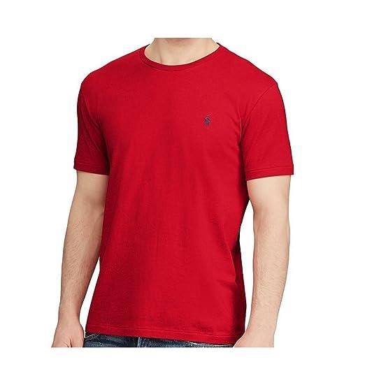 1e15ac57 Image Unavailable. Image not available for. Color: Polo Ralph Lauren Men's  Crew-Neck Pony Logo T-Shirt Classic Fit ...