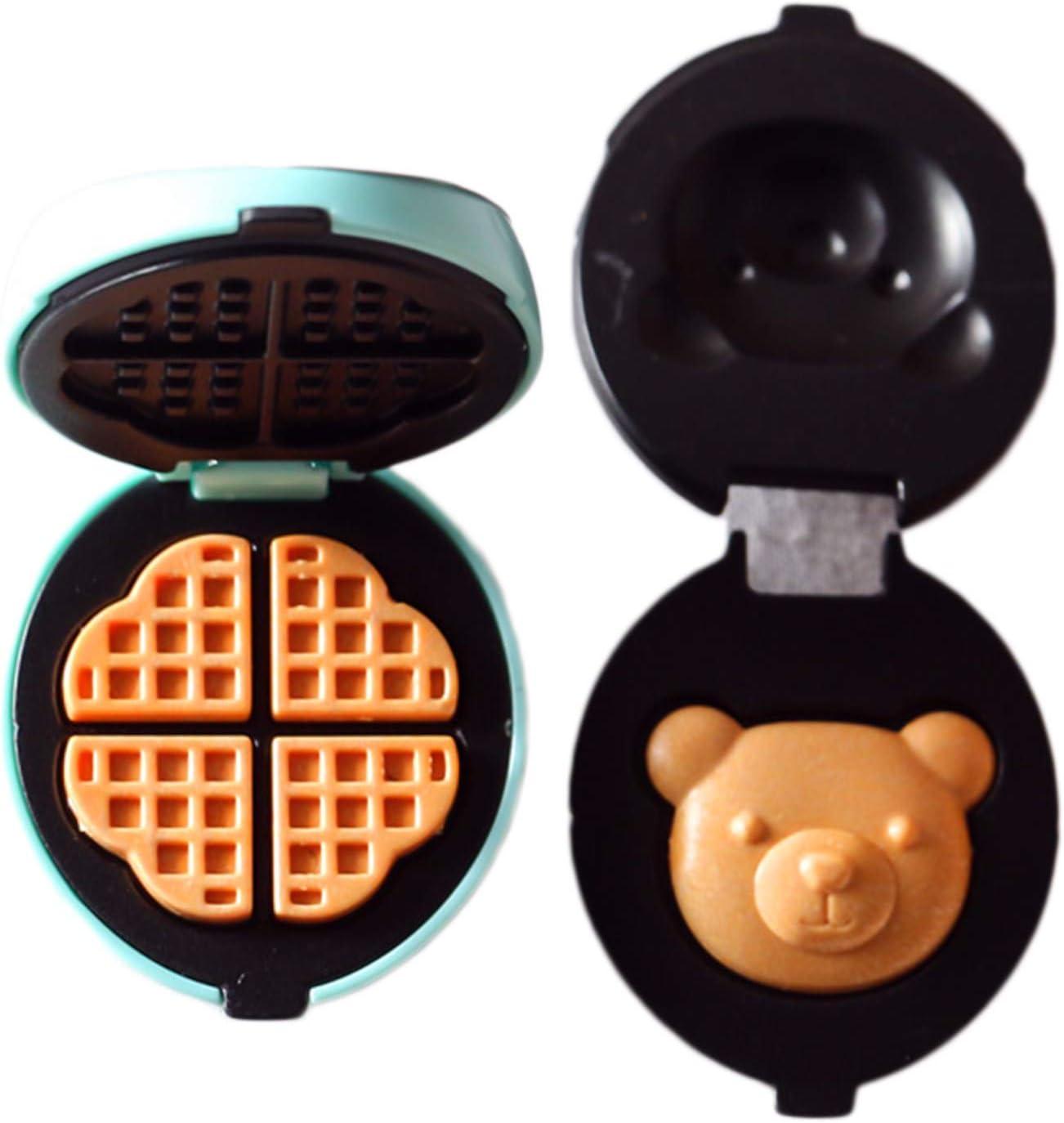 narutosak Doll House Accessories, Doll House Furnishings,7Pcs/Set Miniature Toaster Cute Realistic Plastic Mini Bread Waffle Machine Model for Entertainment - A