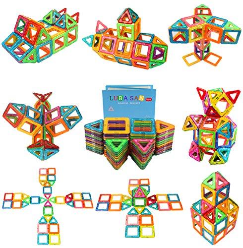 Magnetic Toys For Boys : Magnetic blocks pcs set kids tiles