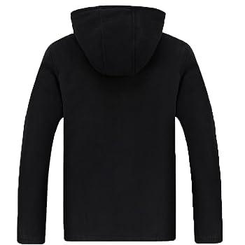 Men's Warm Sherpa Lined Fleece Full Zip Hoodie Sweatshirt Jacket Outdoors Sports Wear