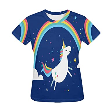 New Unicorn and rainbow shirt girls sizes XS-XXL Unicorn rainbow t-shirt