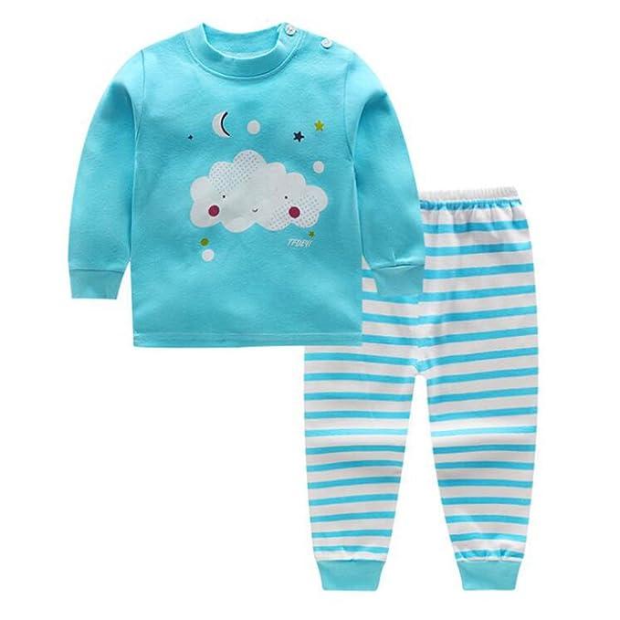 Conjuntos Pijamas Unisex Casual Ropa de Dormir para Niña Niño ...