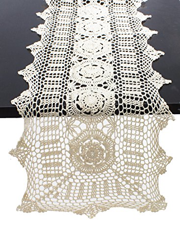 Fennco Styles Handmade Crochet Lace Cotton Tablecloth (16