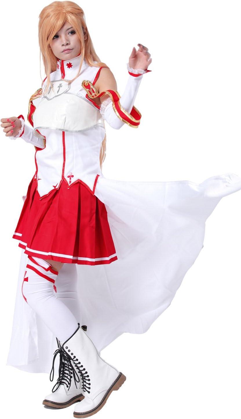 Disfraz de disfraz Kirito Asuna botas Pelucas Cosplay De Anime ...