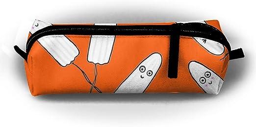 Kawaii tampones naranja caja de lápiz bolsa bolsa de maquillaje ...