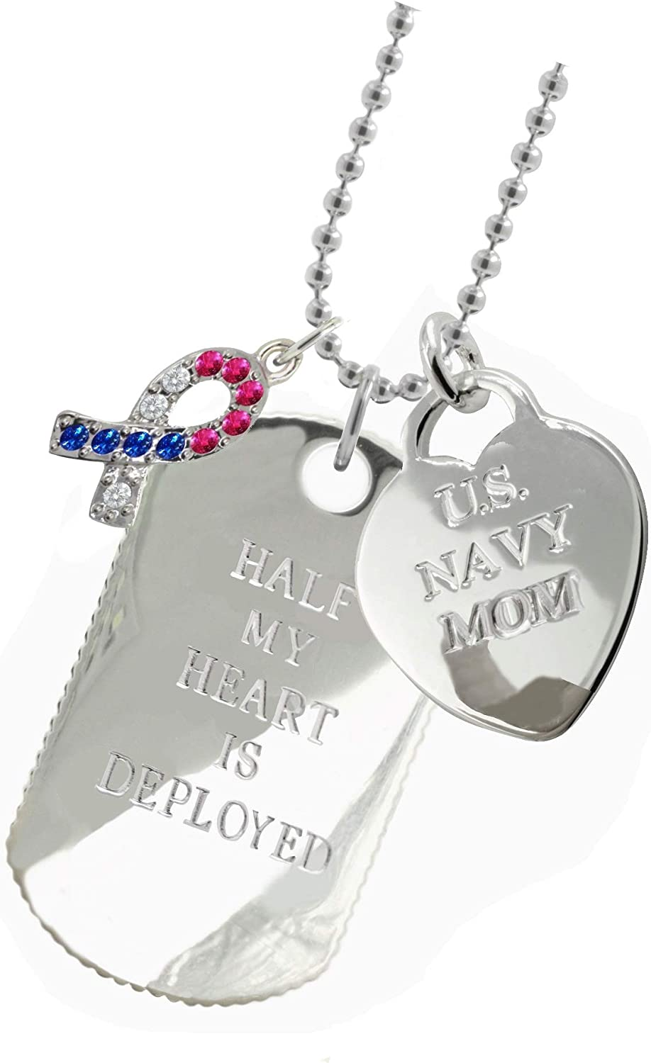 Plated Navy Mom Dog Tag CR New York 925 /& Co