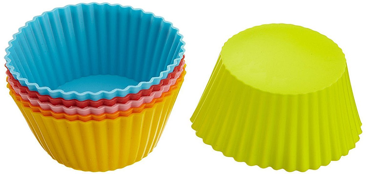 Casabella Standard Silicone 3'' Muffin / Cupcake Baking Cups (4 Pack (24 Cups Total))