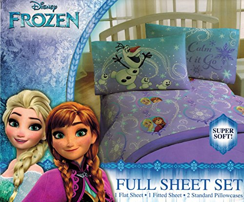 ern Lights' Sheet Set - Anna and Elsa, Keep Calm and Let it Go - Soft and Comfortable Microfiber Sheets (Full) ()