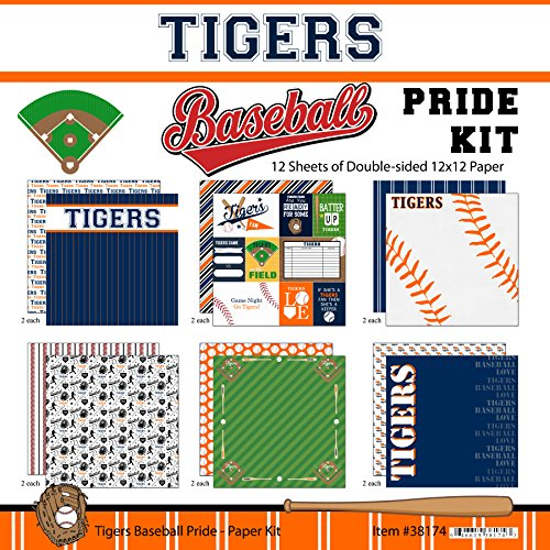 Scrapbook Customs Tigers Pride Baseball Scrapbook (Custom Tiger)