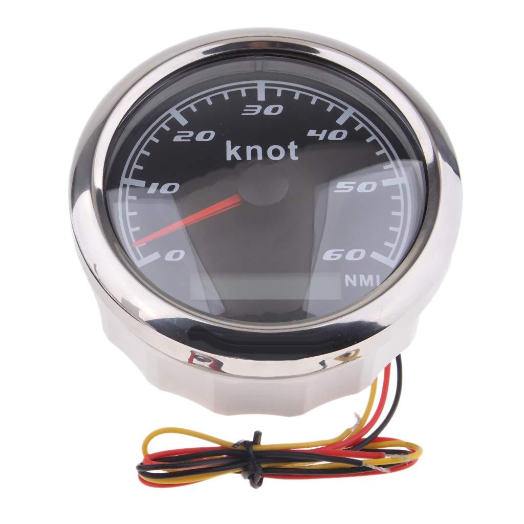 B Blesiya Boat GPS Speedometer Speed Meter Gauge 85mm 0-60 Knot 316L