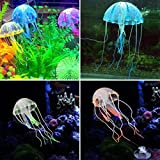 Happie Shop Aquarium Underwater Glowing Effect Jelly Fish - Multi Colour (Big, Approx 7 Inch In Length)